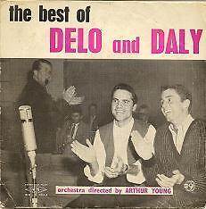 """Delo and Daly Comedy Duo Australian TV 1960s 7"""" 45rpm Record Cover only"""