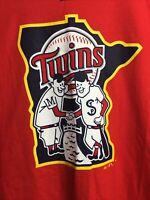 Unique MLB Minnesota Twins Baseball T Shirt 2XL By Majestic