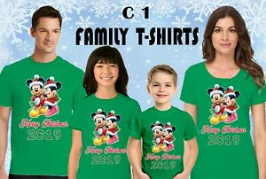Disney Christmas shirts Cute Christmas family shirts Disney Xmas family t-shirt