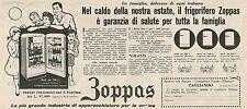 W1768 Frigorifero ZOPPAS - Pubblicità del 1958 - Vintage advertising