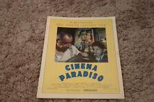 Cinema Paradiso 1990 Oscar ad with Humphrey Bogart, Laurel & Hardy on wall