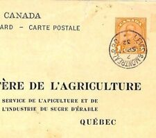 VV92 CANADA RAILWAY Cover 1932 *LEVIS & MONTREAL RPO* Official AGRICULTURE Card