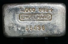 Vintage Engelhard 999 Five Ounces 5 oz Pure Fine Silver Bar - RARE - ii
