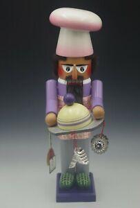 "STEINBACH GERMANY PET MICE PASTRY BAKER NUTCRACKER 15"" HAND MADE #733"