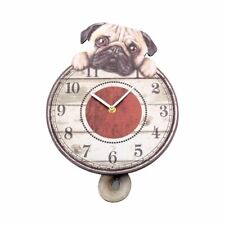 New Dalmatians Round Wall Clock Swinging Pendulum Dalmatian Pet Dog