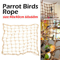 Parrot Bird Climbing Rope Net Jungle Ladder Swing Play Toys Pet Cockatiel Cage