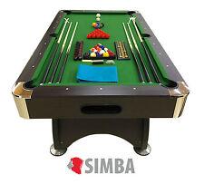 7 Ft Pool Table Billiard Playing Table Game billiards GREEN SEASON Indoor Sports