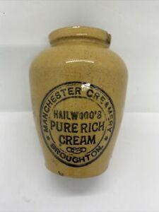 Vintage Manchester Cream Pot. Hailwoods