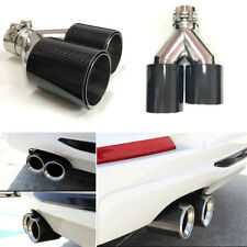 Carbon Fiber Exhaust Pipe TWIN Exhaust Tips for BMW 2.5 '' in, 3.5 '' M LEFT