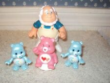 CAREBEARS LOT-THE CLOUD KEEPER-2 BLIND BAG PEARLIZED AND PINK SITTING CAREBEAR W