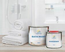 NOVOL NEW BATH SHOWER PAINT WHITE 2K ENAMEL KIT REPAIR REFURBISHING RAL 9016