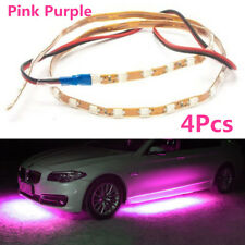 4Pcs 90cm+135cm Pink Purple LED Strips Under Car Underglow Underbody Neon Light
