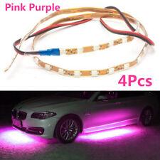4Pcs 90cm+135cm Pink Purple LED Strips Under Car Underglow Underbody Neon Light