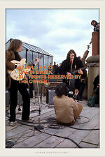 THE BEATLES  ROOFTOP CONCERT 69 John & George  large 8 x 12 kod-ak gold EXC COND