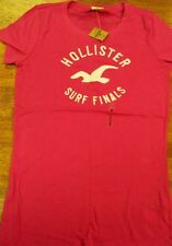 Girls Hollister Surf Finals REd Embroidered Tee SZ M New With Tags