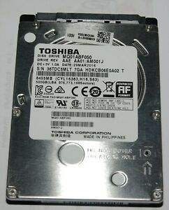 "Disque Dur 2,5"" SATA 500Go Toshiba 5400 tr/min SATA II * SMART OK RAS *"