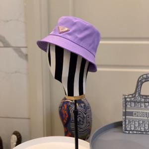 2021 Pr-ada New Unisex Purple Nylon Bucket Hat Hot Free Shipping