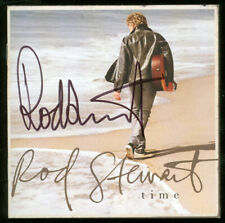 ROD STEWART Autographed Signed Time CD Front Insert FACES