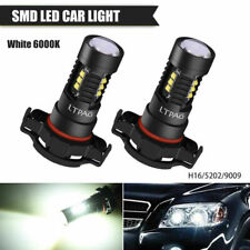 2x 6000k White H16 5202 LED DRL Light Bulbs For 2007-2014 Escalade 2008-2013 CTS
