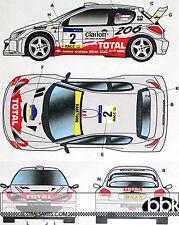 STUDIO 27 PEUGEOT 206 WRC #2 #16 CATALUNYA SWEDISH RALLY 2001 DECAL TAMIYA 1/24