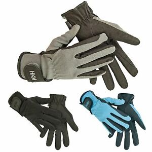 Equestrian Adults Kids Special Elasticated Premium Leather Horse Riding Gloves