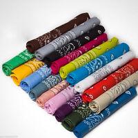 1/2/5PCS Bandana Tuch versch. Farben Baumwolle Kopftuch Halstuch Nickituch Schal