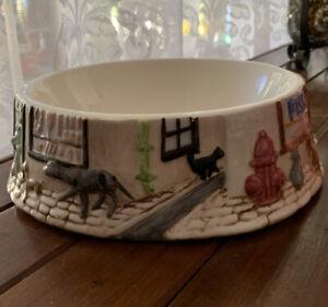 Vintage  Atlantic Mold Mid 70's Ceramic Dog/Cat Bowl