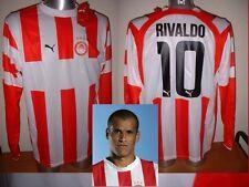 OLYMPIAKOS RIVALDO BRASILE GRANDE MAGLIA JERSEY CALCIO CALCIO PUMA Bnwt Grecia LS
