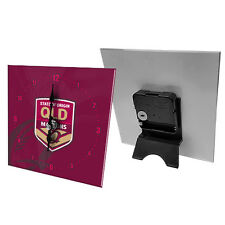 2018 QLD Queensland State of Origin Maroons NRL Mini Glass Clock bedside table