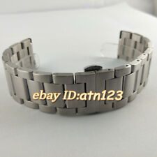 Parnis 22mm Silver Brushed Stainless Steel Watch Strap Bands Bracelet Watchbands