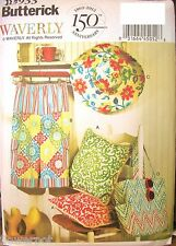 Miss Butterick 5933 Pattern WAVERLY Hat Tote Pants Pillow UC Size 4-6-8-10-12-14
