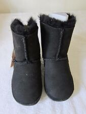 FITFLOP Kids Mukluk Black Boots Suede Leather Shoes UK Size 11