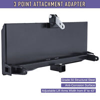 "3-Point Attachment Adapter Heavy-Duty 47"" Steel for Bobcat Kubota Skid Steer"