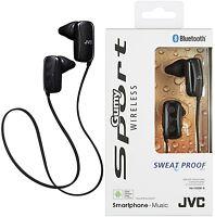 JVC HAF250BTBE BLACK Gumy Sports Bluetooth In Ear Headphones Original /Brand New