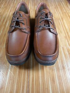 CLARKS Mens Brown leather cushion cell  Laced Shoes SIZE UK 11H extra wide