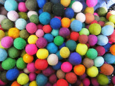 10 - Filzkugeln ,Kugeln, Mix ,bunt ,1,5 cm Durchmesser, Waldorf