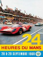 ART PRINT POSTER SPORT ADVERT LE MANS 24 HOUR RACE CAR MOTOR FRANCE NOFL1048