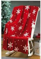 Snowflake Throw Over Christmas Gift Red