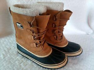 SOREL Caribou Waterproof Boots UK 8 Winter Hiking Outdoor Beige