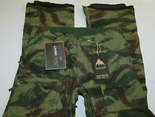 NEW BURTON SKI SNOW PANTS SOUTHSIDE MID FIT CAMO GREEN MENS L