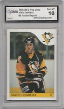 1985-86 OPC O-Pee-Chee # 9 Mario Lemieux RC Rookie Reprint GMA Graded 10 Gem MT