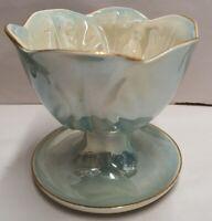 Australian Pottery Wembley Ware Dessert Comport c1946-61 Parfait Blue Lustre