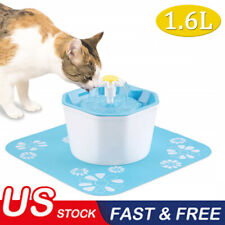 Pet Water Fountain Electric Water Dispenser For Cat Dog Automatic Three Modes BA