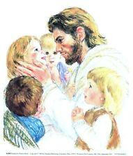 Frances Hook JESUS CHRIST AND THE LITTLE CHILDREN 10x8 Paper Art Print Jesus