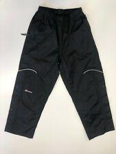 F246 BOYS BERGHAUS AQUAFOIL BLACK STRAIGHT POPPER LEG TROUSERS AGE 11-12 W28 L26