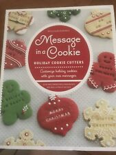 NEW!!! WILLIAMS SONOMA-MESSAGE IN A COOKIE HOLIDAY COOKIE CUTTERS