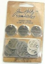 """NEW! TIM HOLTZ IDEA-OLOGY """"METAL THOUGHT TOKENS"""" 18 Pieces"""