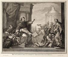 ROGO LIBRI ERETICI - Incisione Originale Coelemans 1700 Heretic Book Blaze