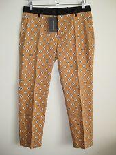 ZARA Chic Waistband Combination Printed Trousers Pants Sz M NWT
