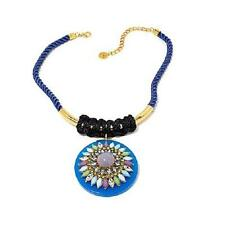 """BEN AMUN """"COLOR FESTIVAL"""" GOLDTONE AND BLUE ROPE 19"""" NECKLACE HSN SOLD OUT"""